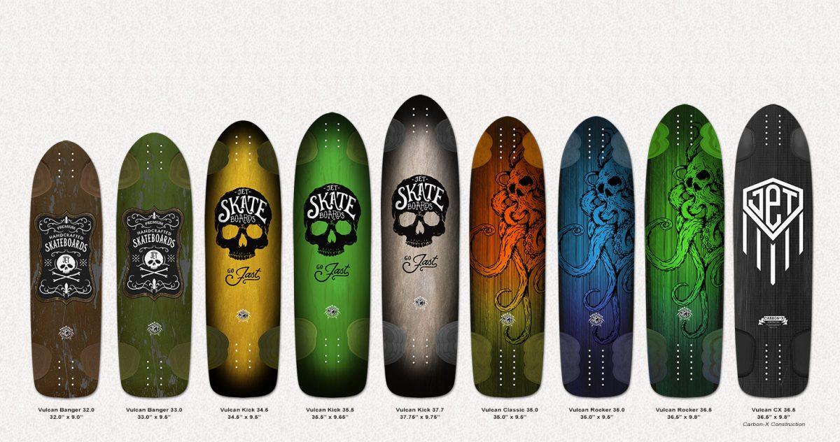 Jet Skateboards 2016 Vulcan Lineup