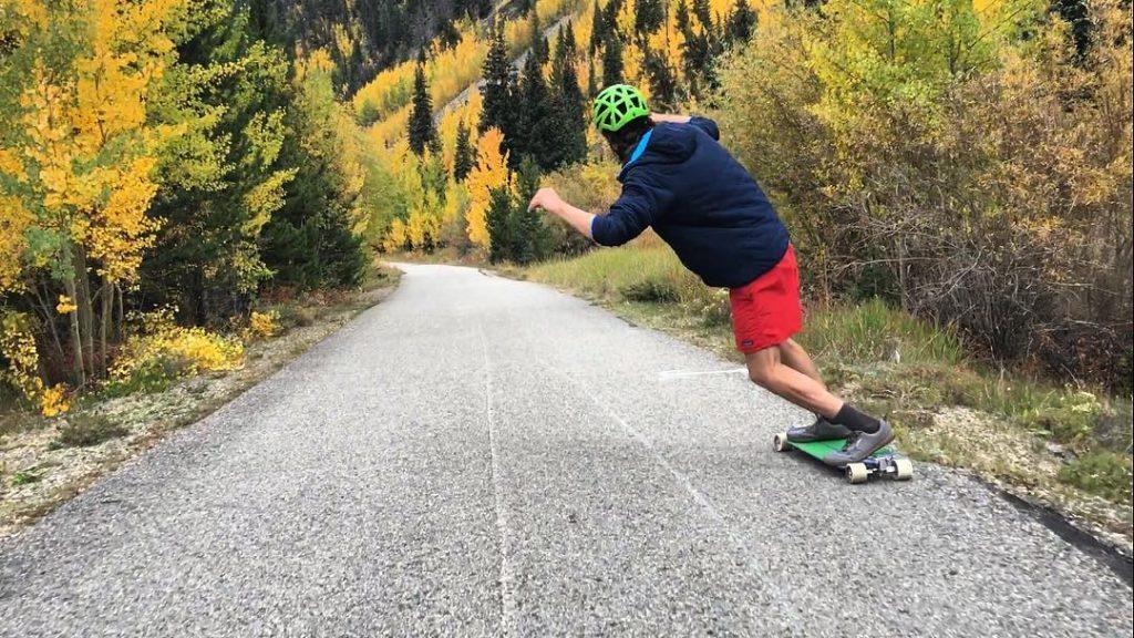 Photo of Jeff Vyain of Pantheon Longboards Pushing