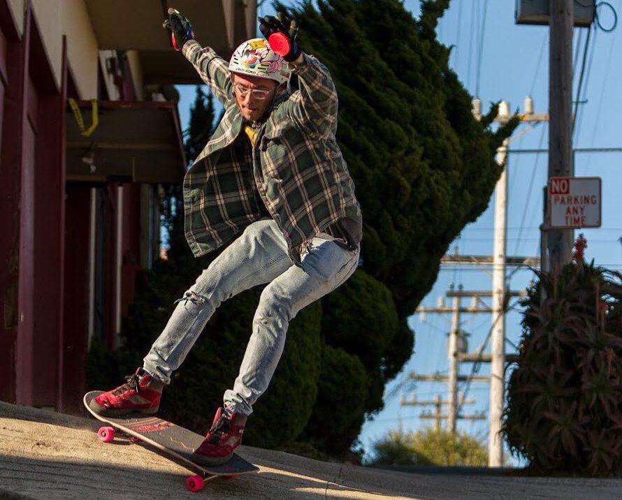 Photo of Bonzing Skateboards Chad Lybrand on the Lurktron