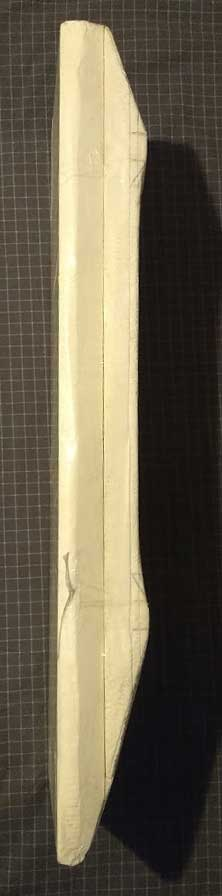 Photo of Side profile of foam mold